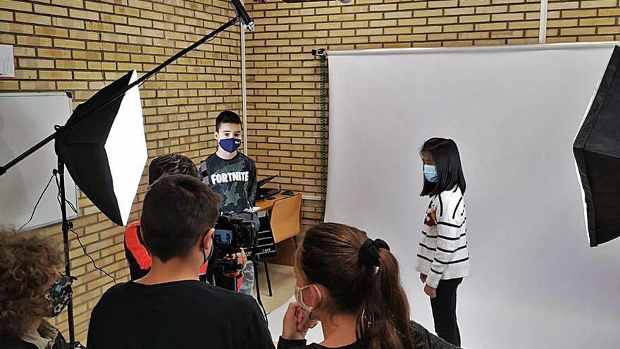 Los alumnos de Chancelas graban un cortometraje contra la violencia de género