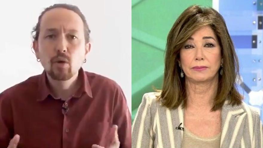 """Pablo Iglesias replica a Ana Rosa y anuncia que la demandará si no rectifica """"el bulo de las residencias"""""""