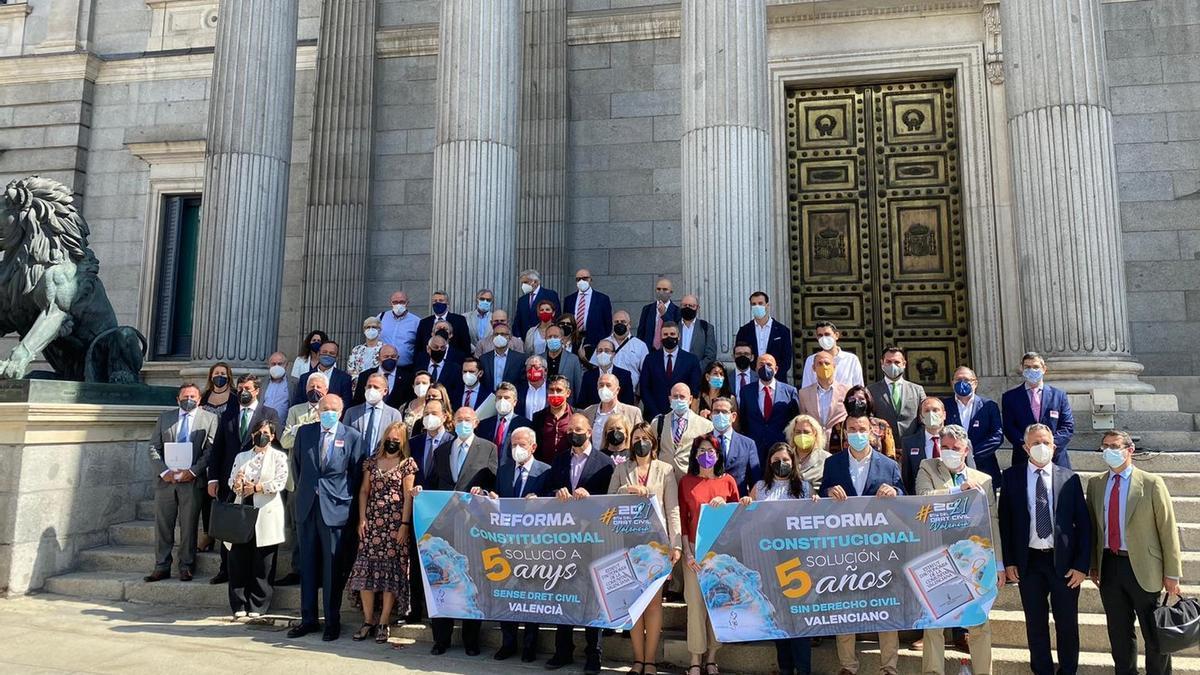 Encuentro reivindicativo en el Congreso de referentes valencianos el pasado 14 de junio