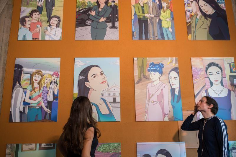 Inauguración de la exposición Cine + Cómic