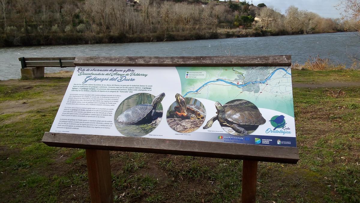 Paneles informativos de las Rutas de Naturaleza por Zamora.