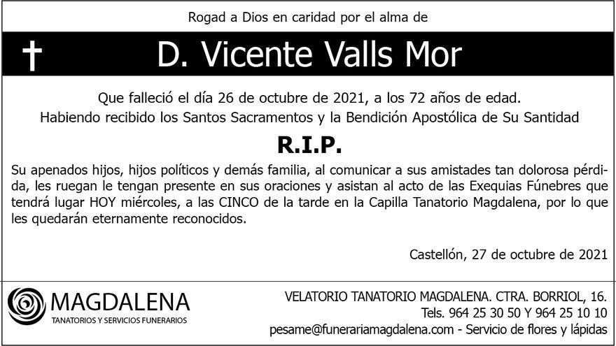 D. Vicente Valls Mor