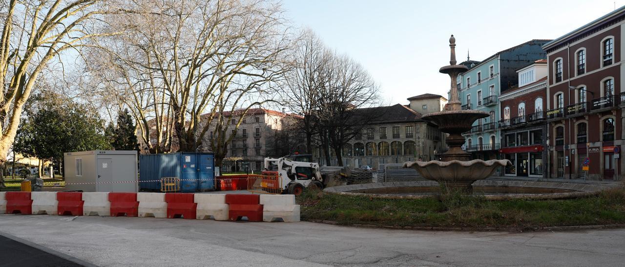 Estado actual de la plaza de Pedro Menéndez, tras las obras en Emile Robin.