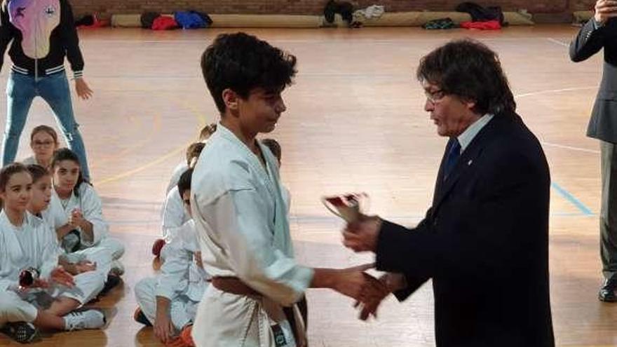 El Shotokan impone su mando en el Campeonato de Vigo Infantil