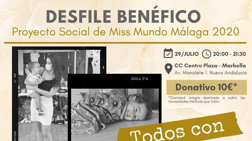 Miss Mundo Málaga organiza un desfile benéfico a favor del pequeño Adán