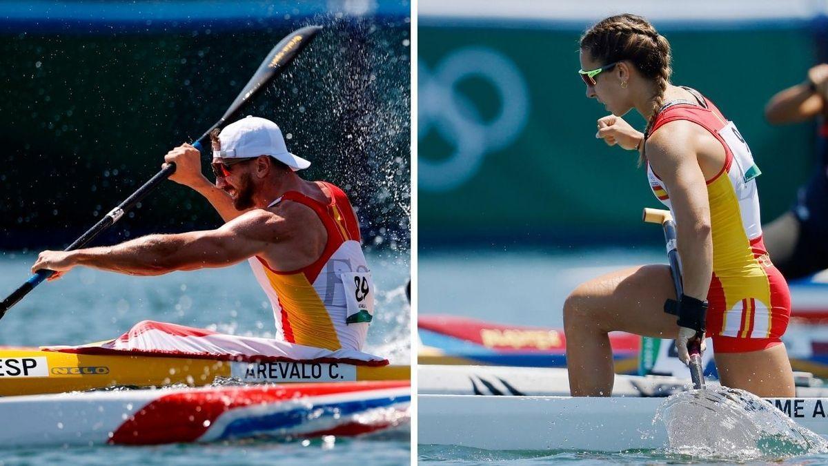 Carlos Arévalo y Antía Jácome en sus pruebas clasificatorias.