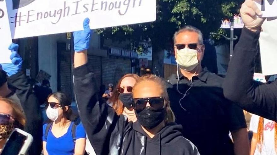 Jennifer López, en las marchas antirracistas