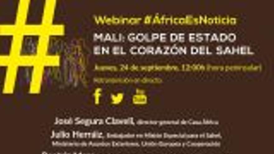Webinar #AfricaEsNoticia: 'Mali, golpe de Estado en el corazón del Sahel'