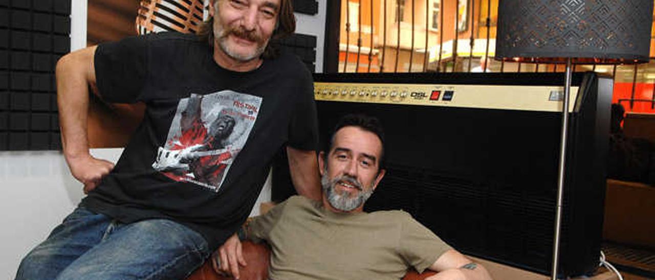 Giuliano Brambati y Marco Montes, ayer, en La Guarida del Blues.