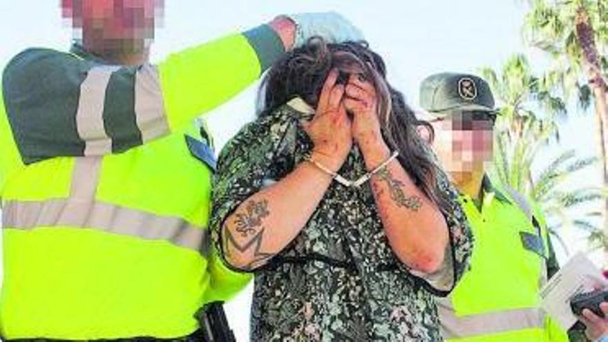 La joven, arrestada tras atropellar a los seis ciclistas.