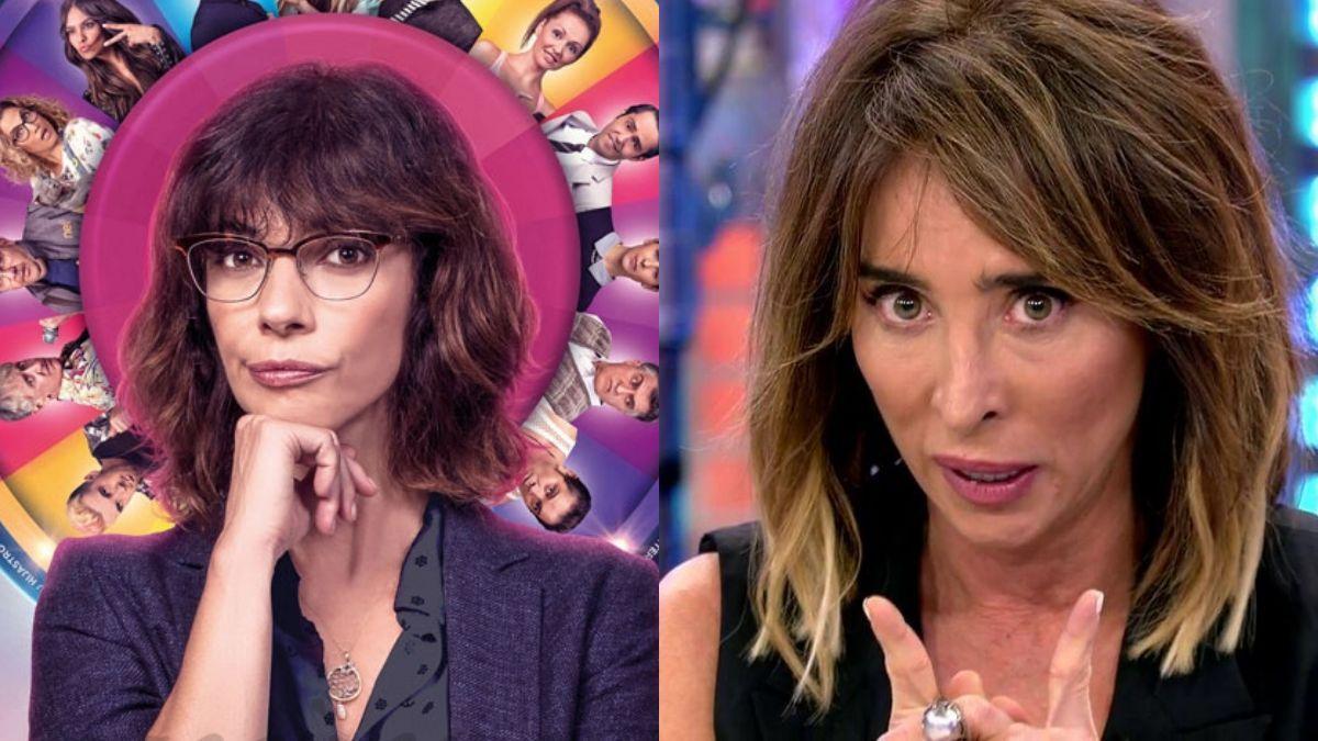 Cartel de 'Sin rodeos' y María Patiño.