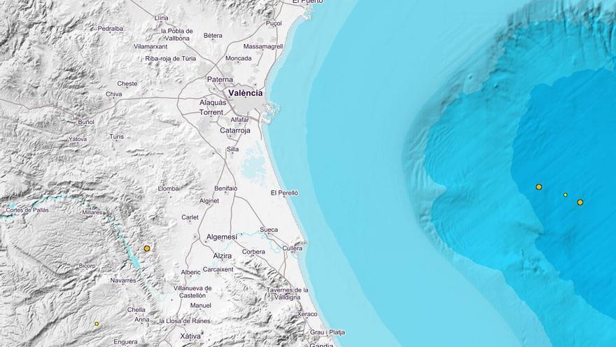 Dos seísmos en el Golfo de Valencia