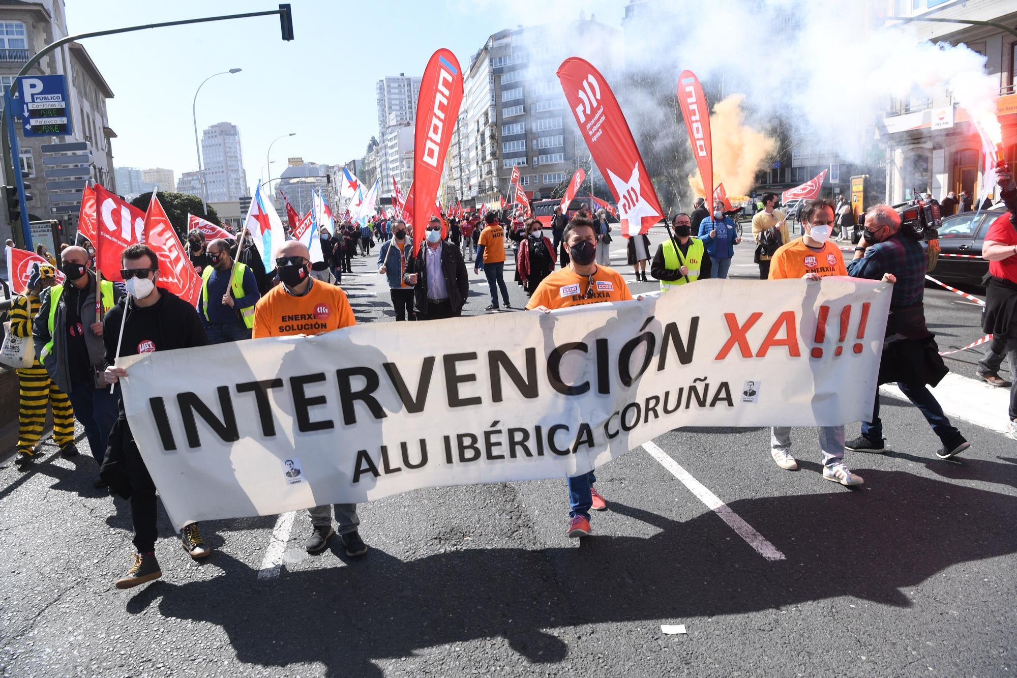 Marcha en A Coruña por Alu Ibérica