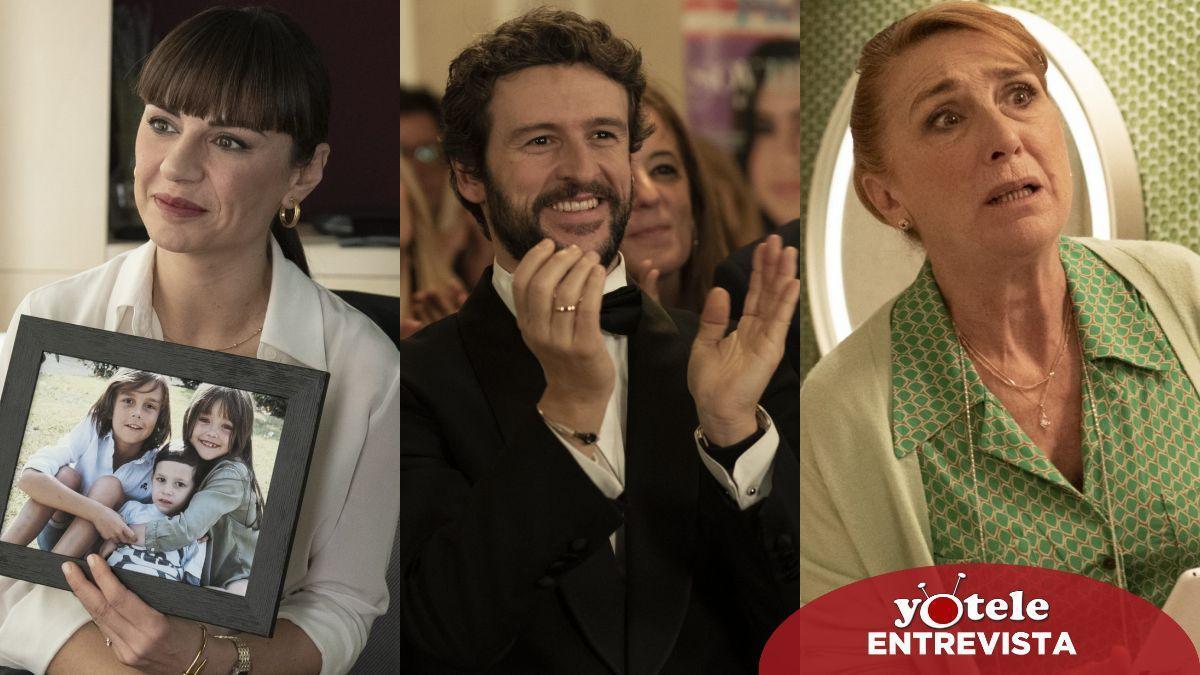 Miren Ibarguren, Diego Martín y Gracia Olayo en escenas de 'Supernormal'.