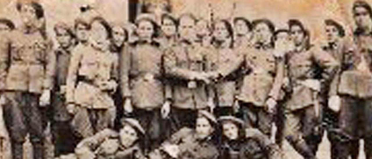 Milicianos en el concejo de Aller