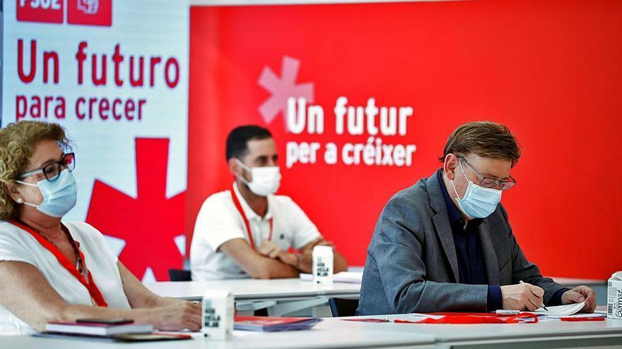 Puig reorienta el discurso del PSPV: ayudar a la empresa a crecer