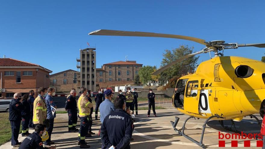 Els Bombers incorporaran un helicòpter per volar de nit i més avions contraincendis