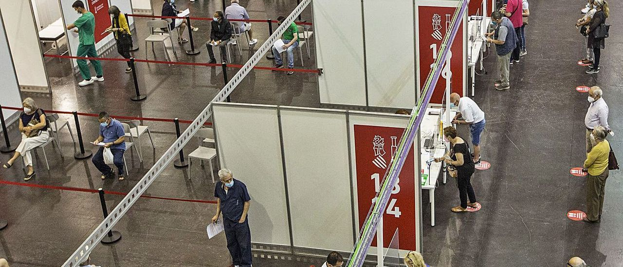 Vacunación masiva en las instalaciones de Ciudad de la Luz de Alicante.