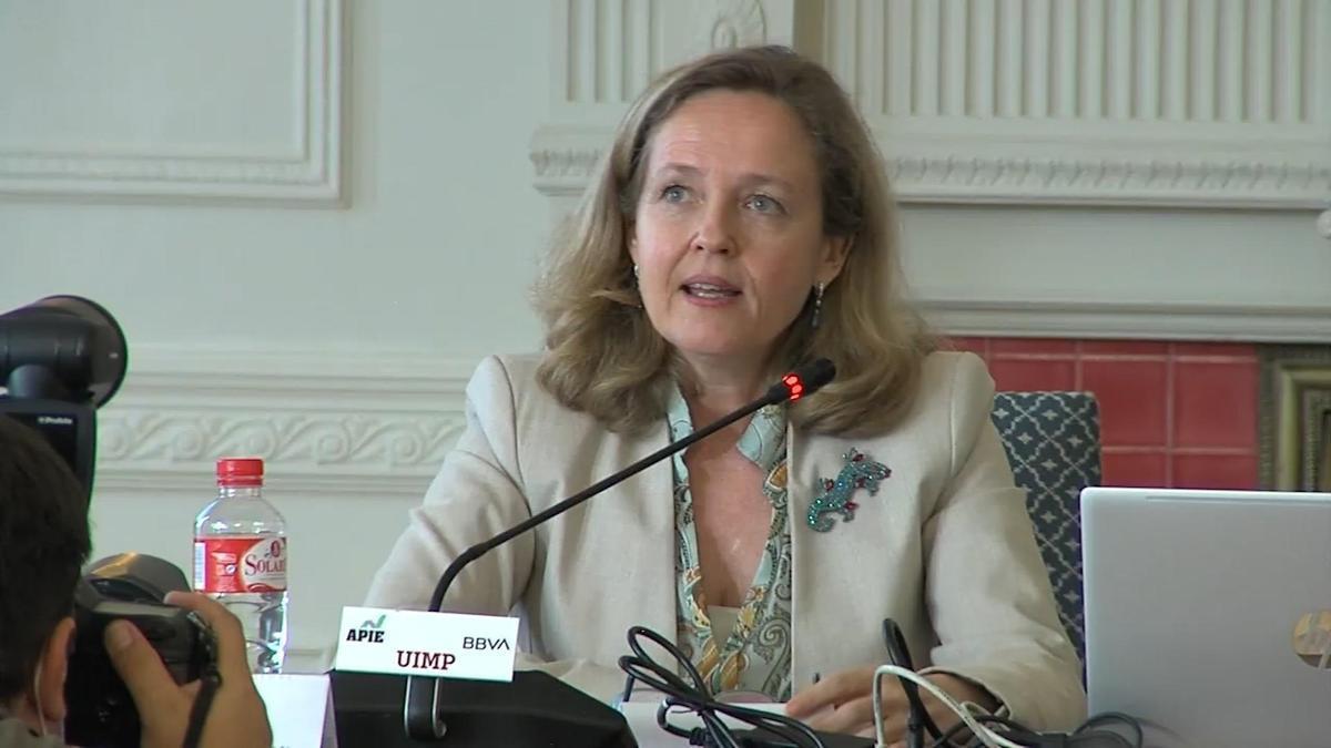 La vicepresidenta de Asuntos Económicos y Transformación Digital, Nadia Calviño.