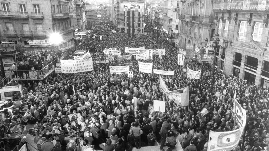 La Guerra del Fletán: la manifestación que invadió Vigo