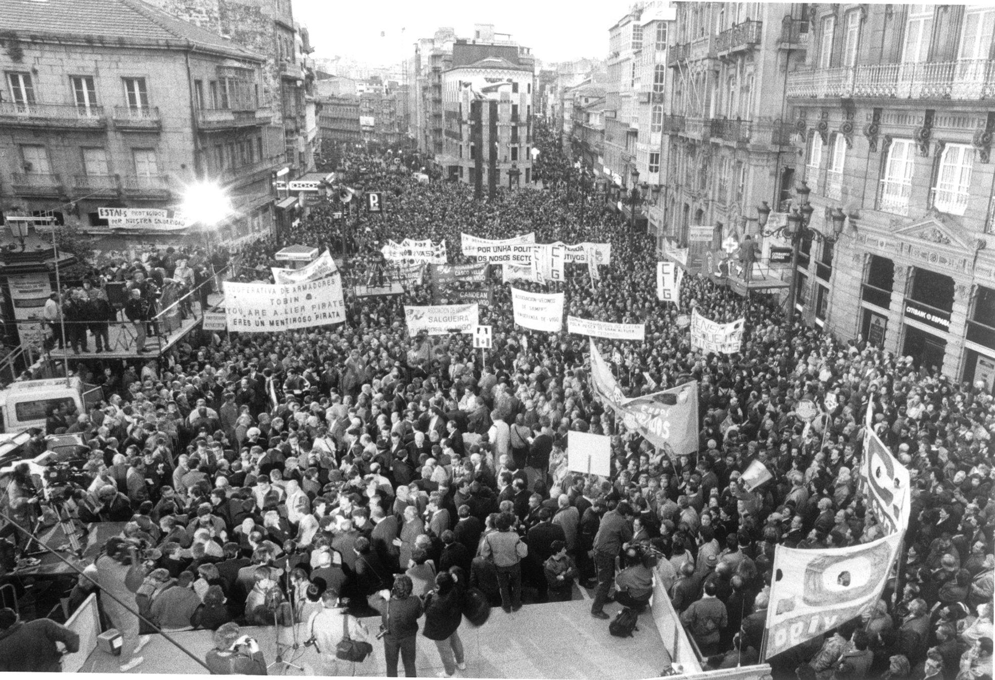 La guerra que tal día como hoy invadió Vigo con 100.000 manifestantes
