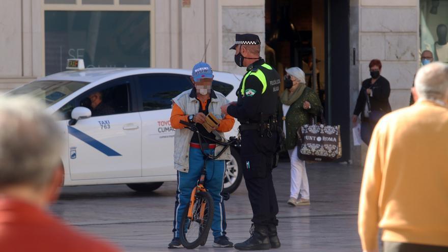 Primeras multas por la nueva ordenanza de Movilidad en Málaga