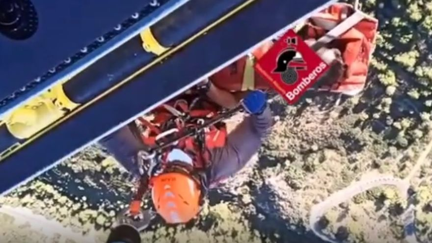 Rescatan a un senderista herido en Finestrat