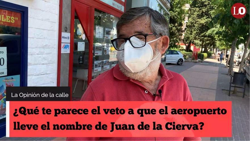 ¿Qué te parece el veto del Gobierno a que el aeropuerto lleve el nombre de Juan de la Cierva?