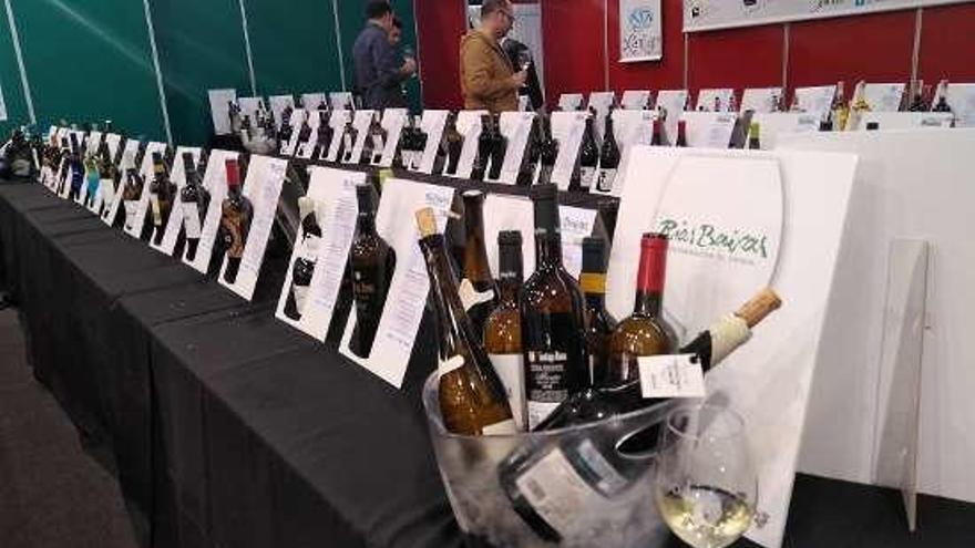 Las Rías Baixas presumen de vino y mejillón con sello de calidad en la feria de Ourense