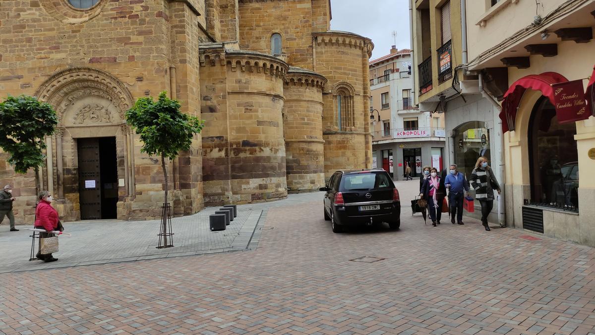 Plaza de Santa María en Benavente. / E. P.