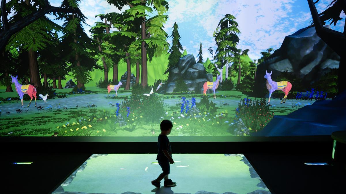 La mezcla de elementos digitales y proyecciones crea ambientes únicos en los que pasar un buen rato en familia.