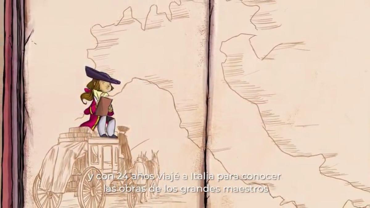 Una escena del cortometraje animado que se acaba de estrenar.