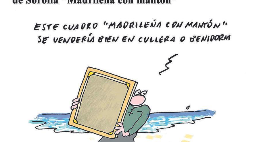 """Subastan en València por 100.000 euros el cuadro de Sorolla """"Madrileña con mantón"""""""