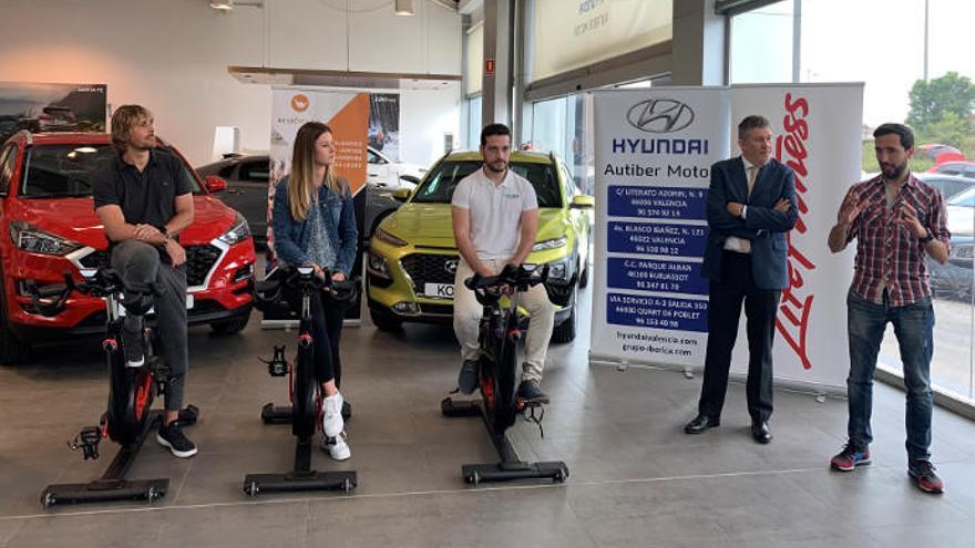 Hyundai Autiber acoge la rueda de prensa previa al récord del mundo de ciclismo indoor