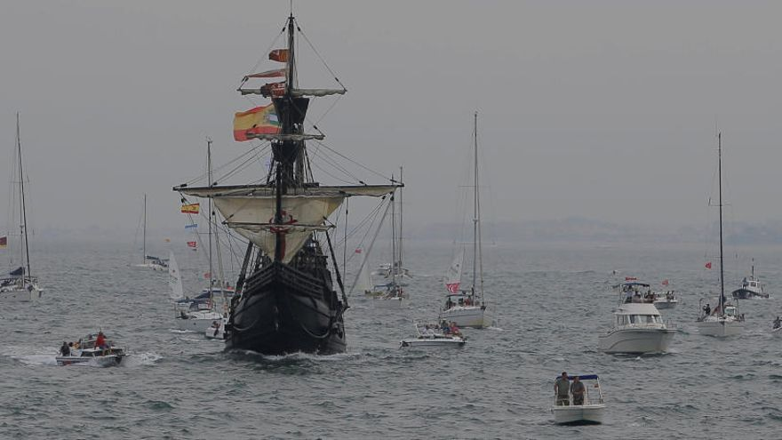 La nao Victoria zarpa como la expedición de Magallanes y Elcano 500 años después
