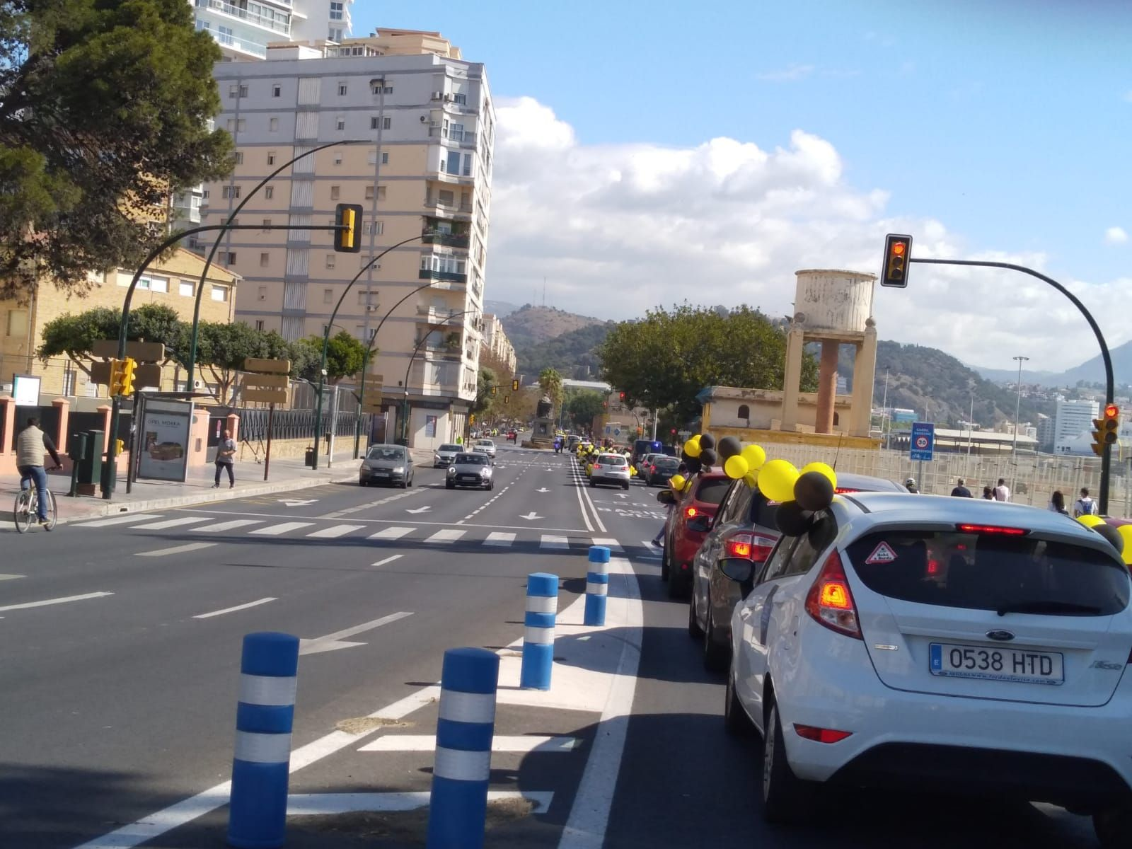 Caravana por Malaga de los trabajadores temporales de la administración