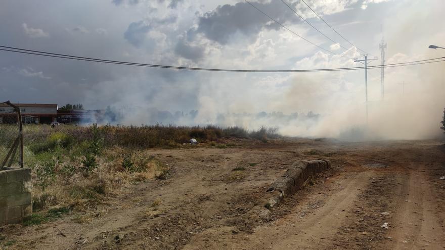 VÍDEO | Los bomberos de Zamora frenan un conato de incendio en el barrio de Pinilla