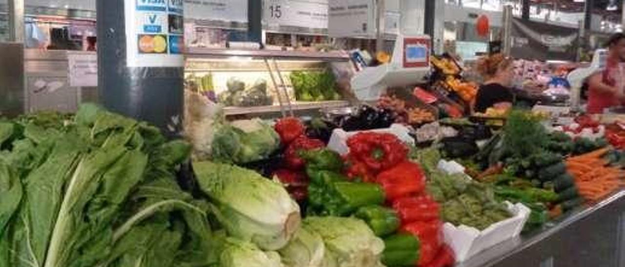 Hortalizas en un mercado.