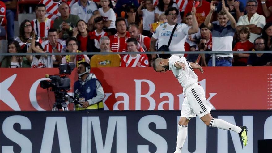El Real Madrid vence con solvencia en Montilivi (1-4)