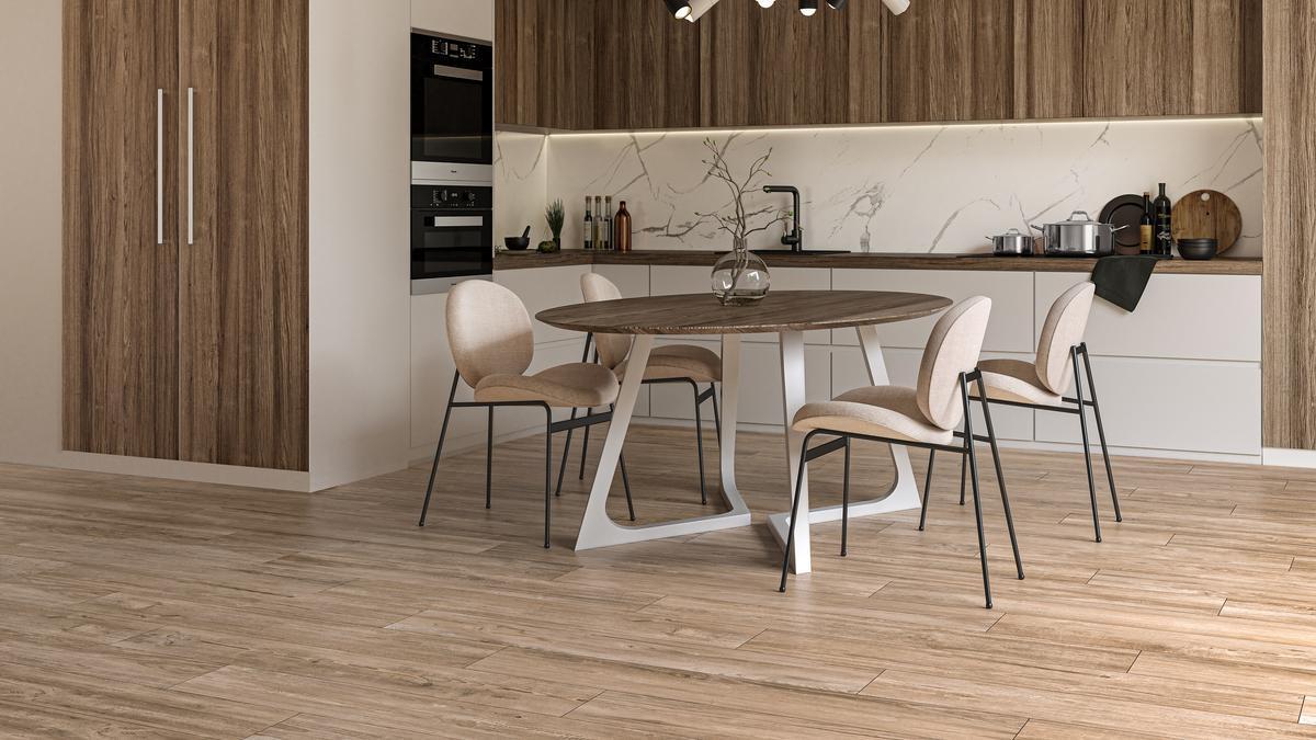 Ecoceramic recrea la belleza de la madera con la calidad de la mejor cerámica.