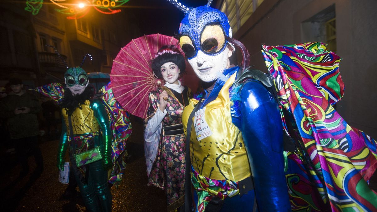 Concurso de disfraces del martes de Carnaval.