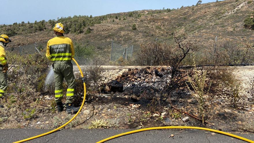 Apagado el conato de incendio en Arico