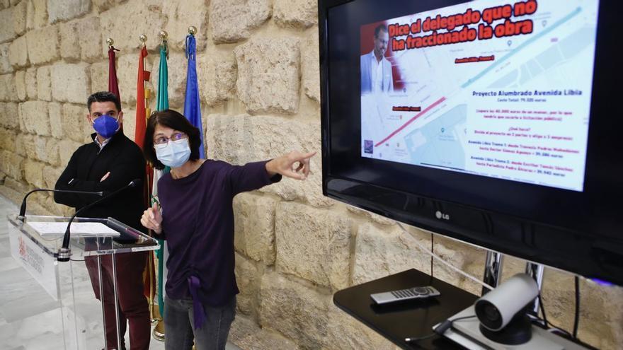 """La empresa de las obras de la avenida de Libia asegura que se ha querellado contra IU por """"injurias y calumnias"""""""