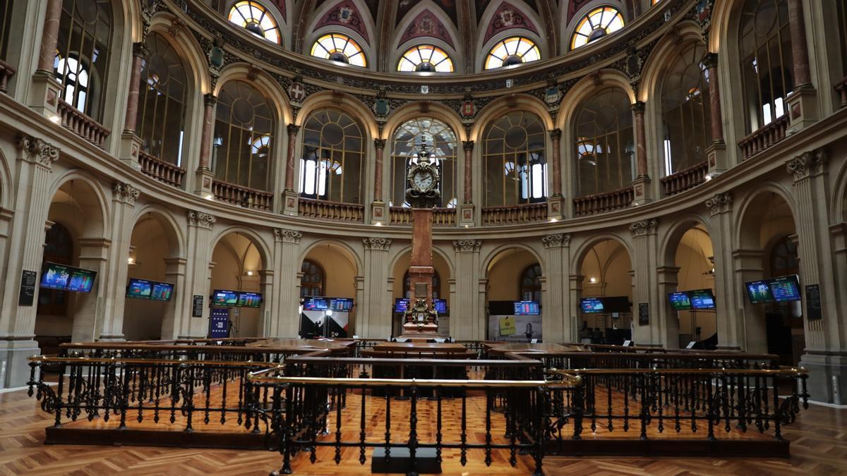 Una de las instalaciones del Palacio de la Bolsa de Madrid.
