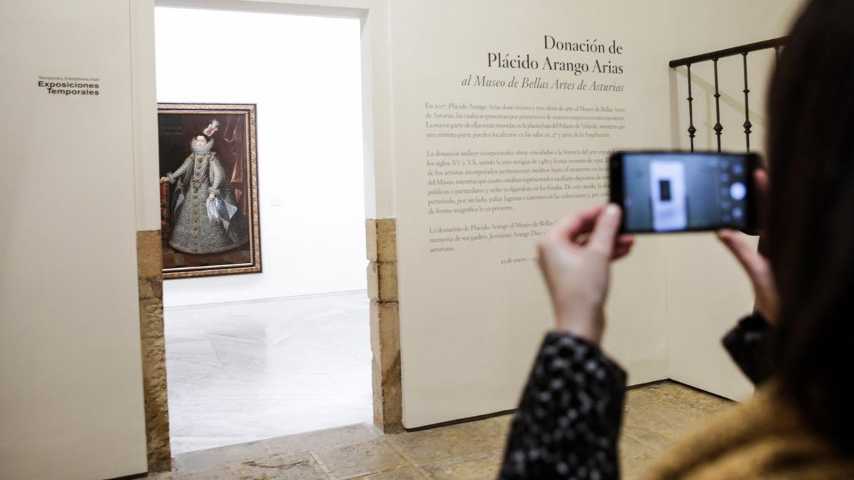 Primera exposición de la donación de Arango en el Bellas Artes, en 2018.