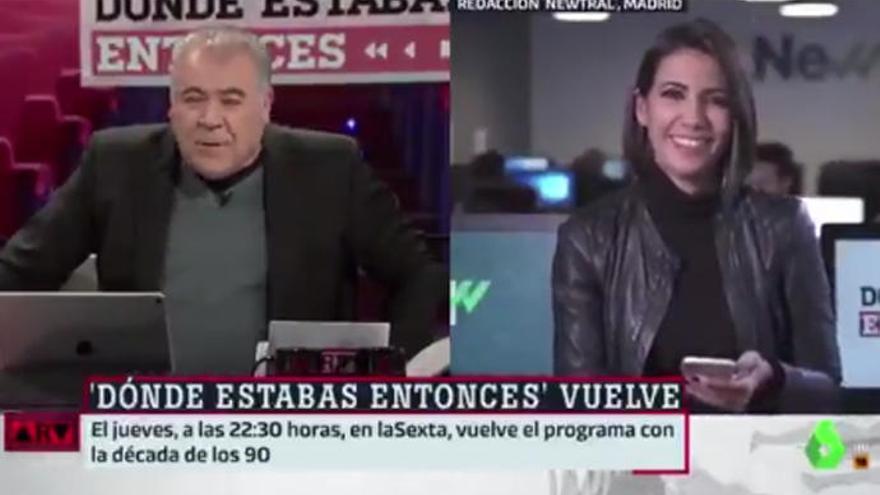 """Ana Pastor y Ferreras protagonizan una """"escena de matrimonio"""" en pleno directo"""