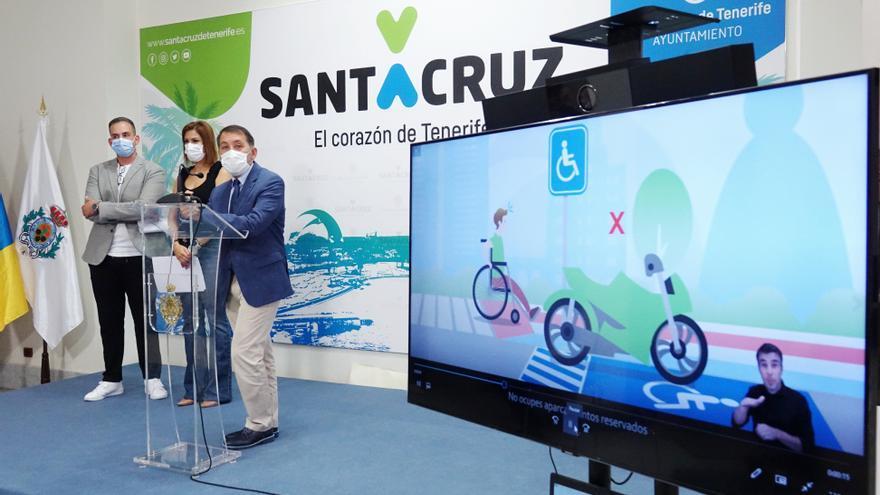 Santa Cruz acude a Telecinco y Antena 3 para concienciar a la población sobre la accesibilidad