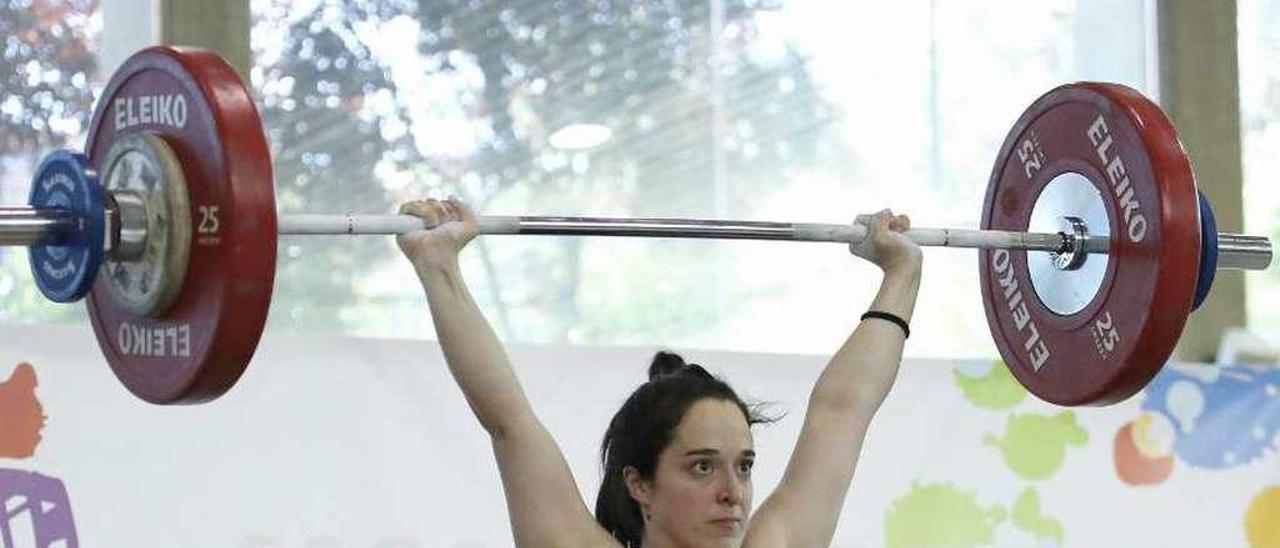 Teresa Somoza en una de las competiciones a las que ha asistido recientemente. // FDV