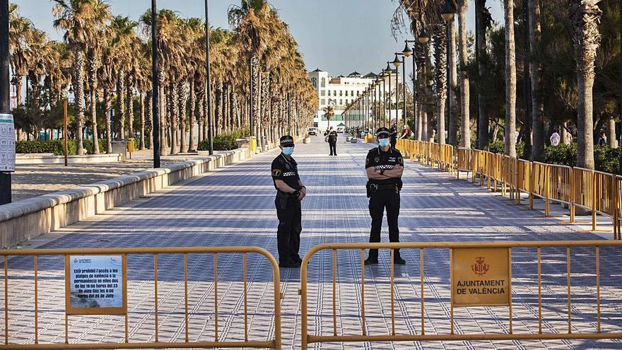 La policía desalojará las playas de la capital a partir de las 19,30 horas