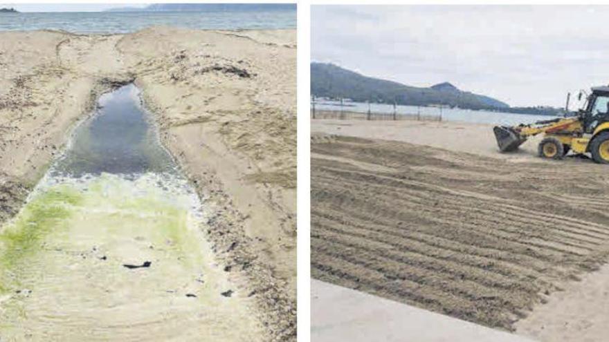 Sand statt Schwamm drüber: Pollença lässt Ekelwasser zuschütten